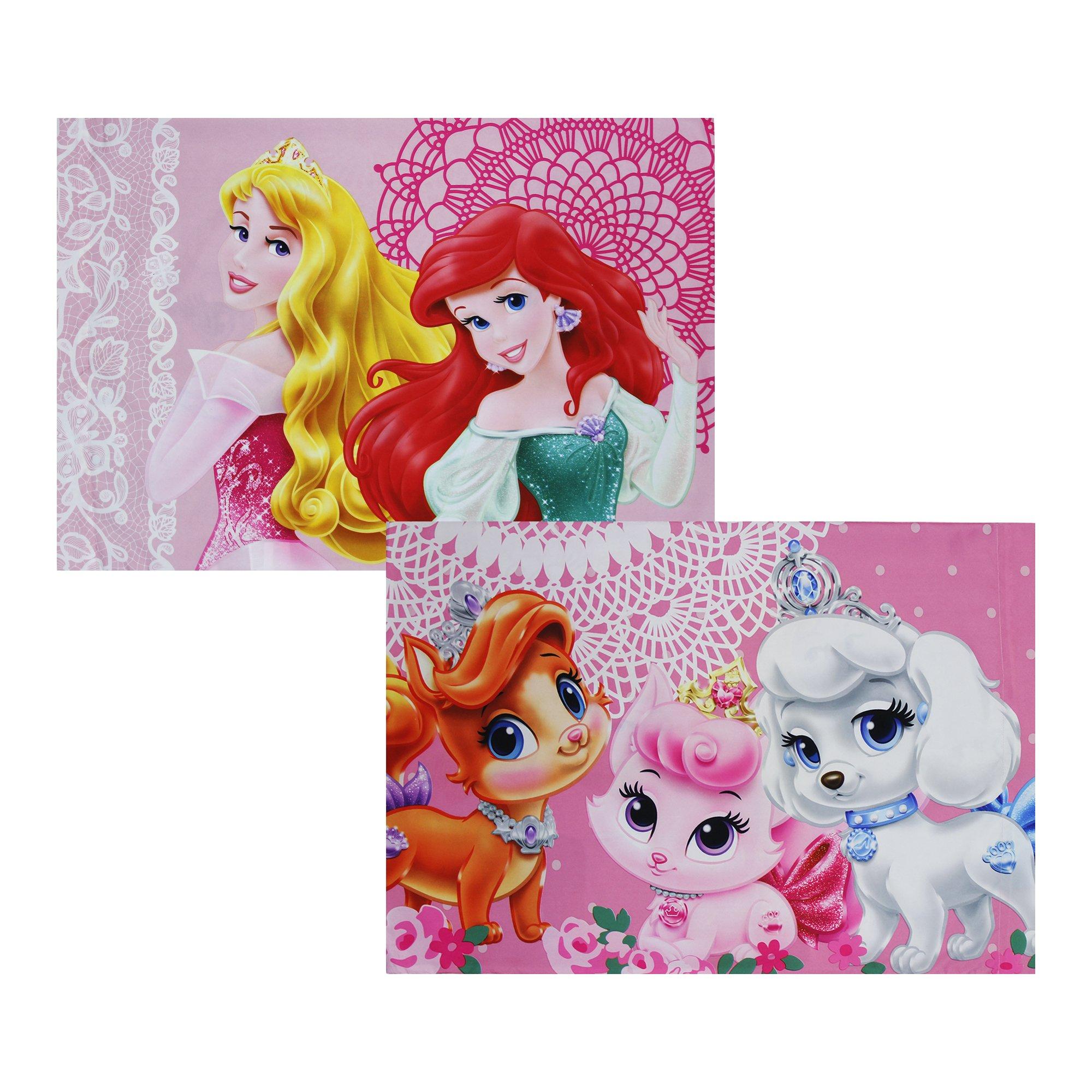 2pc Disney Palace Pets Pillowcase Set Princesses Fabulous Friends Bedding Accessories