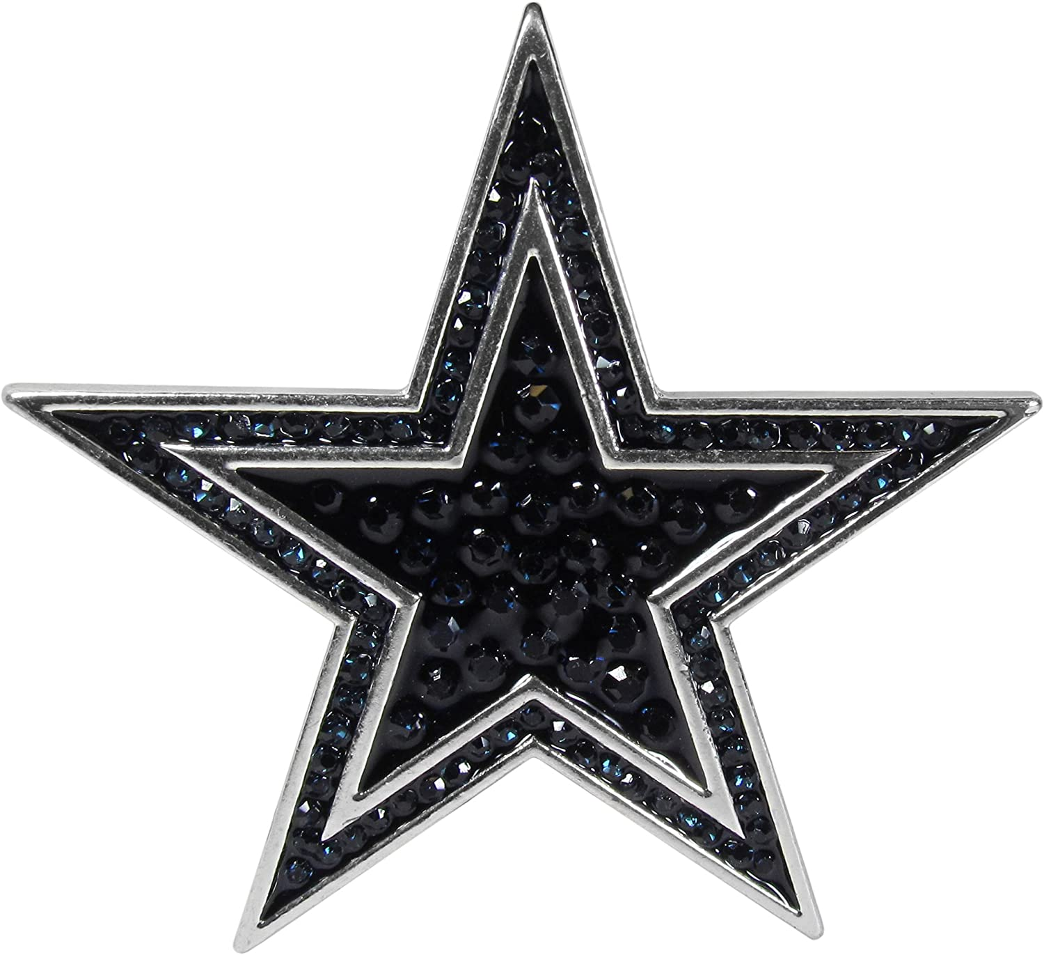 NFL Siskiyou Sports Womens Dallas Cowboys Crystal Pin One Size Team Color