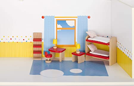 Etagenbett Puppenstube : Cama24com puppenmöbel kinderzimmer aus holz goki basic puppenhaus