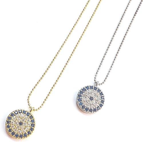 Remi Bijou Orientalische Halskette Kette Anhänger Böser Blick Blaues Auge Türkisch Nazar Boncuk Gold Farbe Amazon De Schmuck