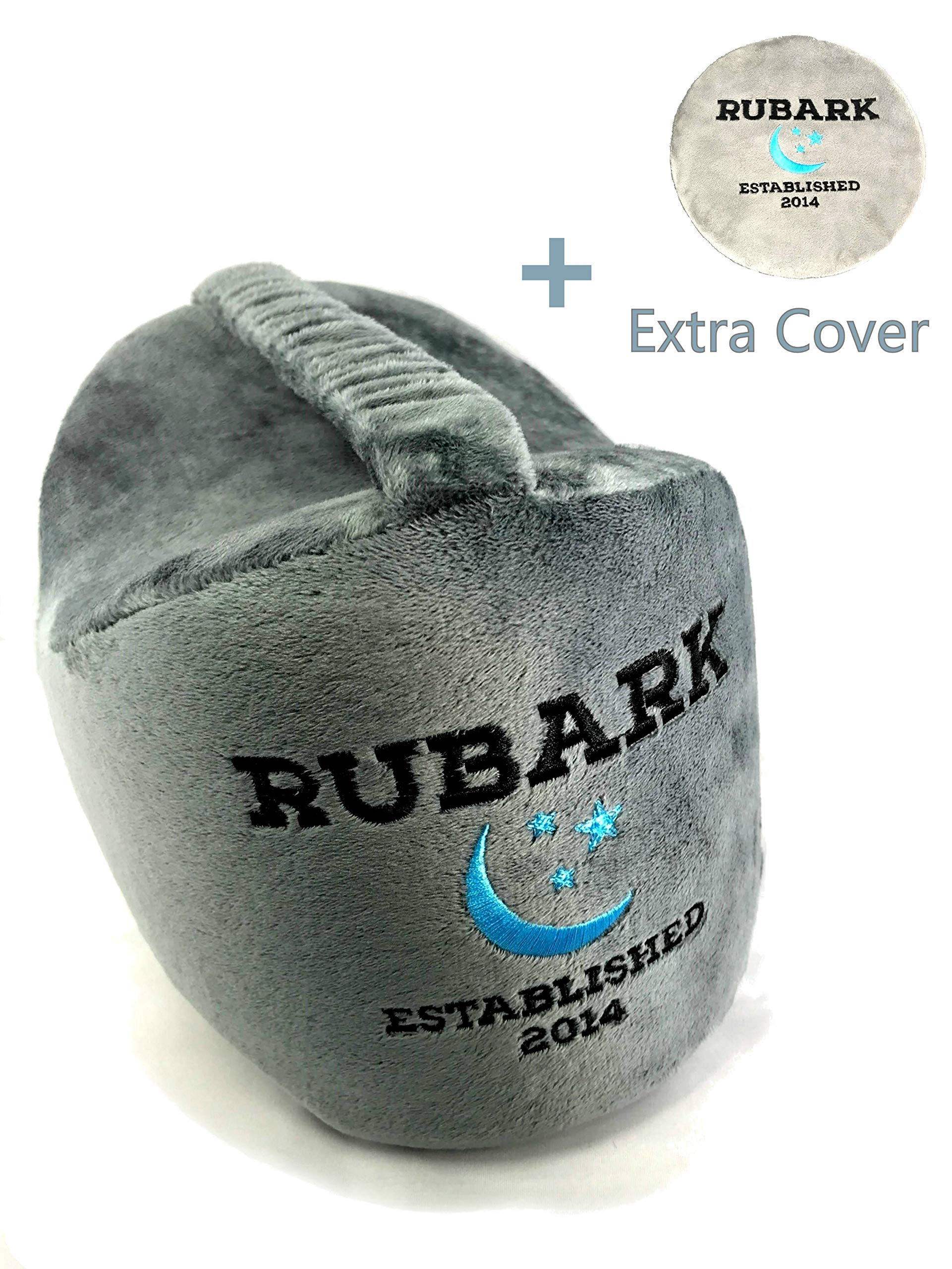 Rubark Orthopedic Knee Pillow for Side Sleepers - Back, Hip, Sciatica, Ankle, Joint and Knee Pain Relief - Memory Foam Wedge Contour Pillow with Adjustable Strap