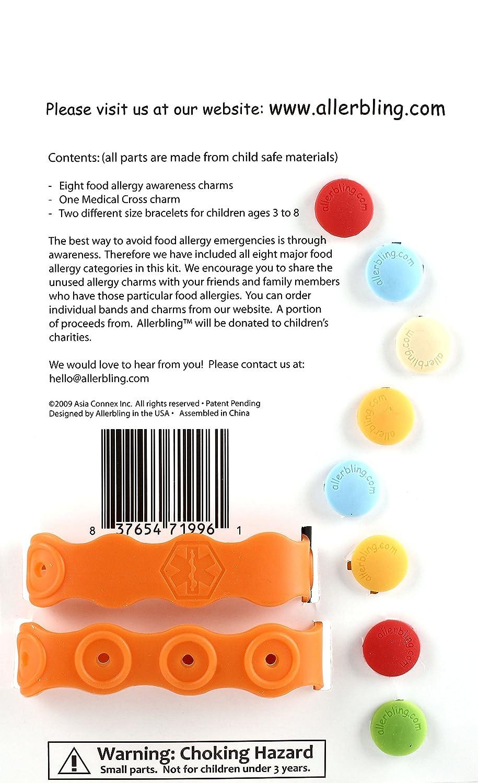 ff8b501c1 Amazon.com: Allerbling Food Allergy Awareness Bracelet: Health & Personal  Care