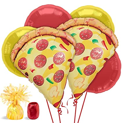 amazon com pizza party balloon kit each toys games