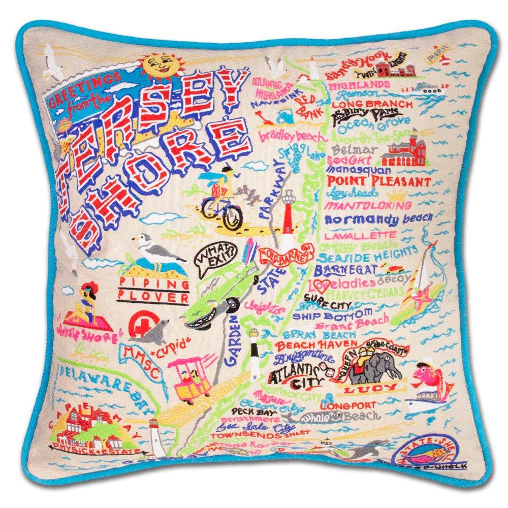 Jersey Shore刺繍枕 ndash; 70%OFFアウトレット B01HIS44ZS Catstudio 高品質新品