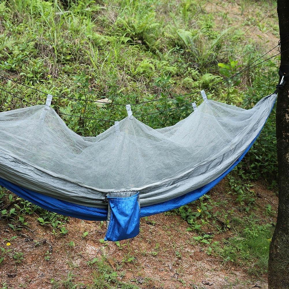 Amaca da Campeggio con Zanzariera da Leggera Portatile Nylon per Lesterno Jungle Backpacking Sopravvivenza Campo di Pesca Viaggio AYNEFY Amaca con Zanzariera