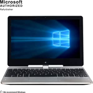 HP EliteBook Revolve 810 G1 Tablet 11.6 Inch Business PC, Intel Core i7-3687U up to 3.3GHz, 8G DDR3, 256G SSD, WiFi, DP, Win 10 Pro 64 Bit Multi-Language Support English/French/Spanish(Renewed)