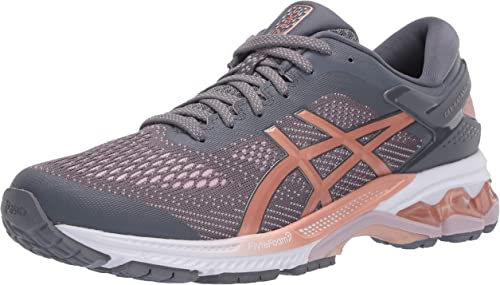 ASICS Women's Gel Kayano 26 Running Shoes, 12.5M, MetropolisRose Gold