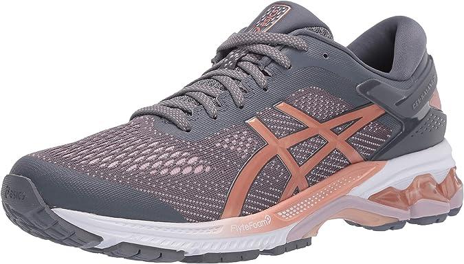 ASICS Womens Gel-Kayano 26 Running Shoes, 10M, Metropolis/Rose Gold: Amazon.es: Zapatos y complementos