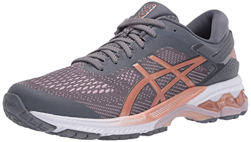 ASICS Womens Gel-Kayano 26 Running Shoes, 7.5M, Metropolis/Rose Gold: Amazon.es: Zapatos y complementos