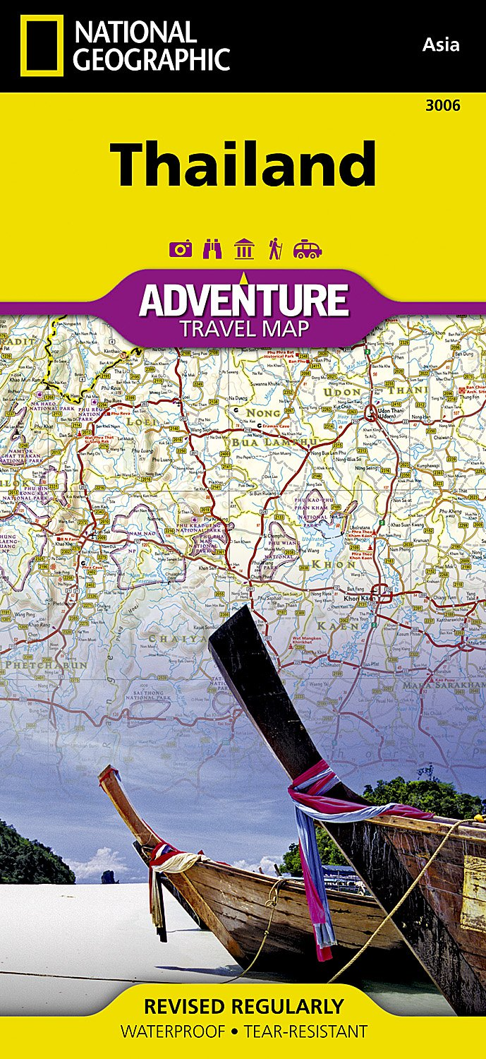 Thailand: NATIONAL GEOGRAPHIC Adventure Maps