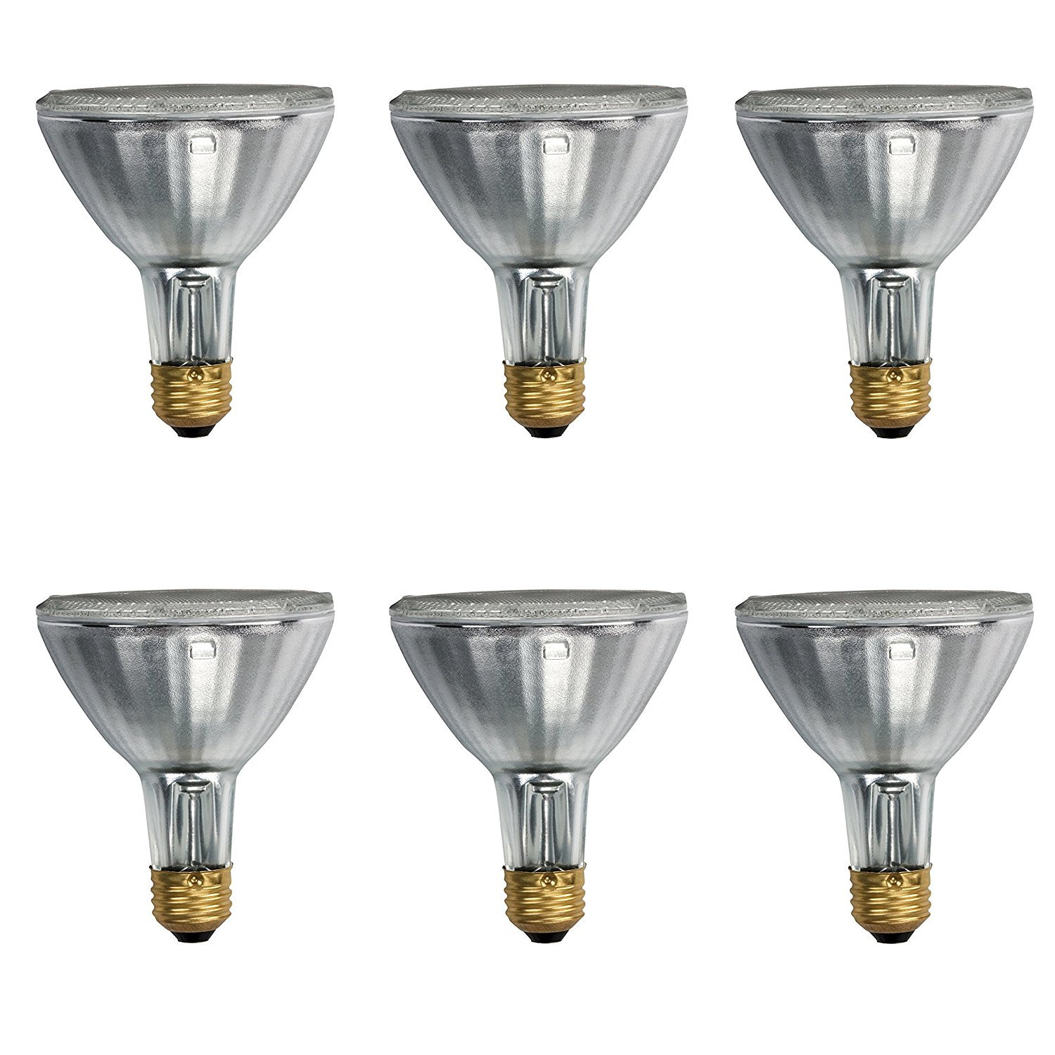 Philips 419747 EcoVantage PAR30 Long Neck 39 Watt (50 Watt Equivalent) 25 Degree Halogen Flood Light Bulb (6 Pack)