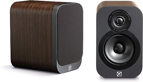 Q Acoustics 3010 Compact Bookshelf Speakers Pair American Walnut