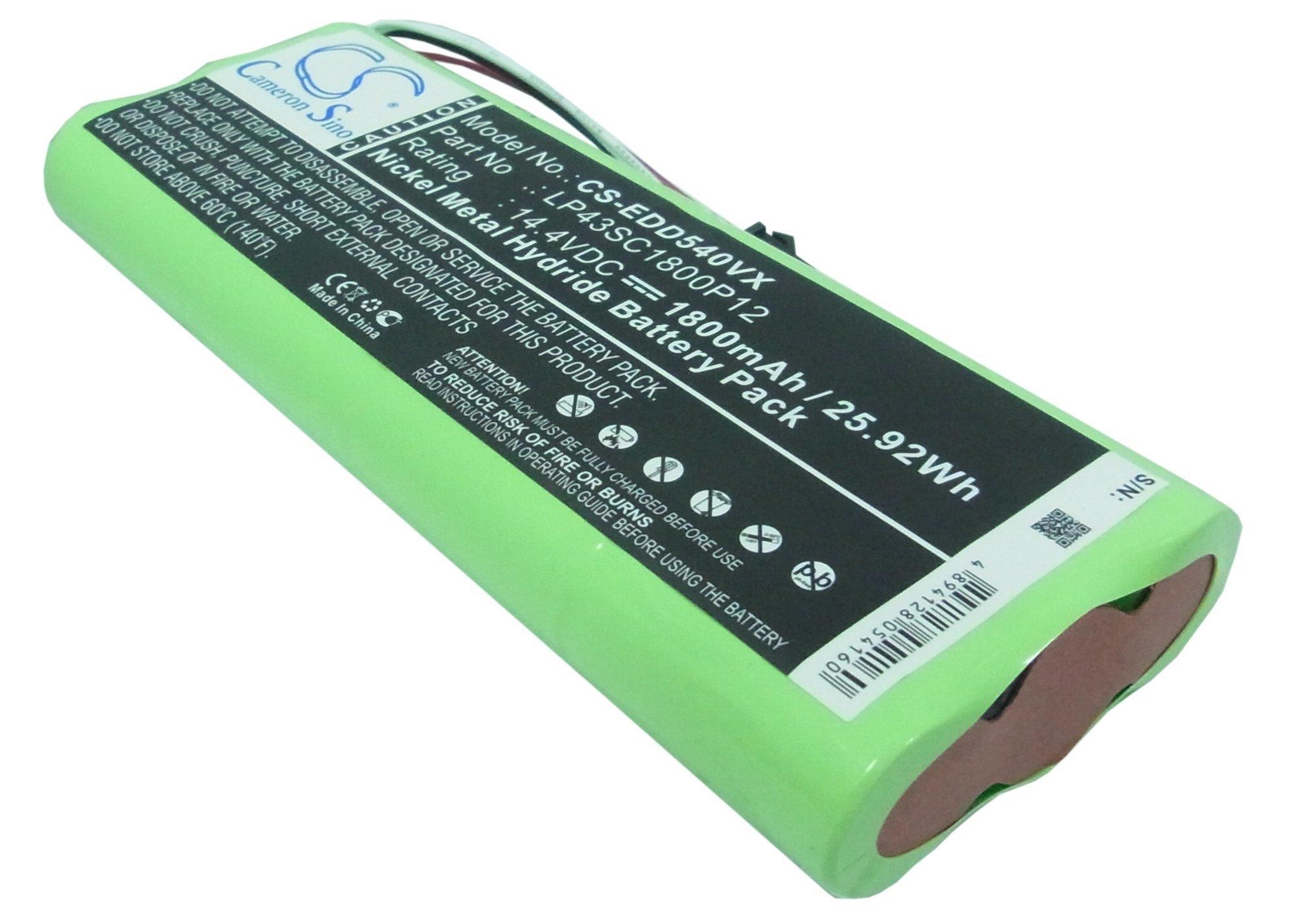Replacement Battery for ECOVACS Deebot D523 Deebot D540 Deebot D550 Deebot D560 Deebot D570 Deebot D580 LP43SC1800P12