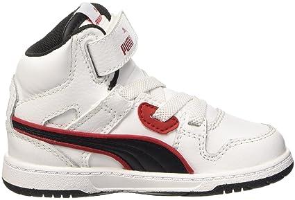 Puma Rebound Street L Inf Sneaker V, Blanco y Negro, 4