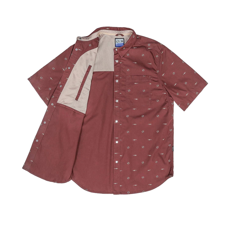 LA Police Gear Discreet Design Poly//Cotton CCW Short Sleeve Button Up Shirt