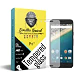 Gorilla guard's HD+ Clear tempered glass screen protector for Google Pixel XL 5.5inch (PRO++ series) 10H hardness, oelophobic, UV protect, 2.5D rounded edges, neo coated, free instalation kit, BEST DEAL!