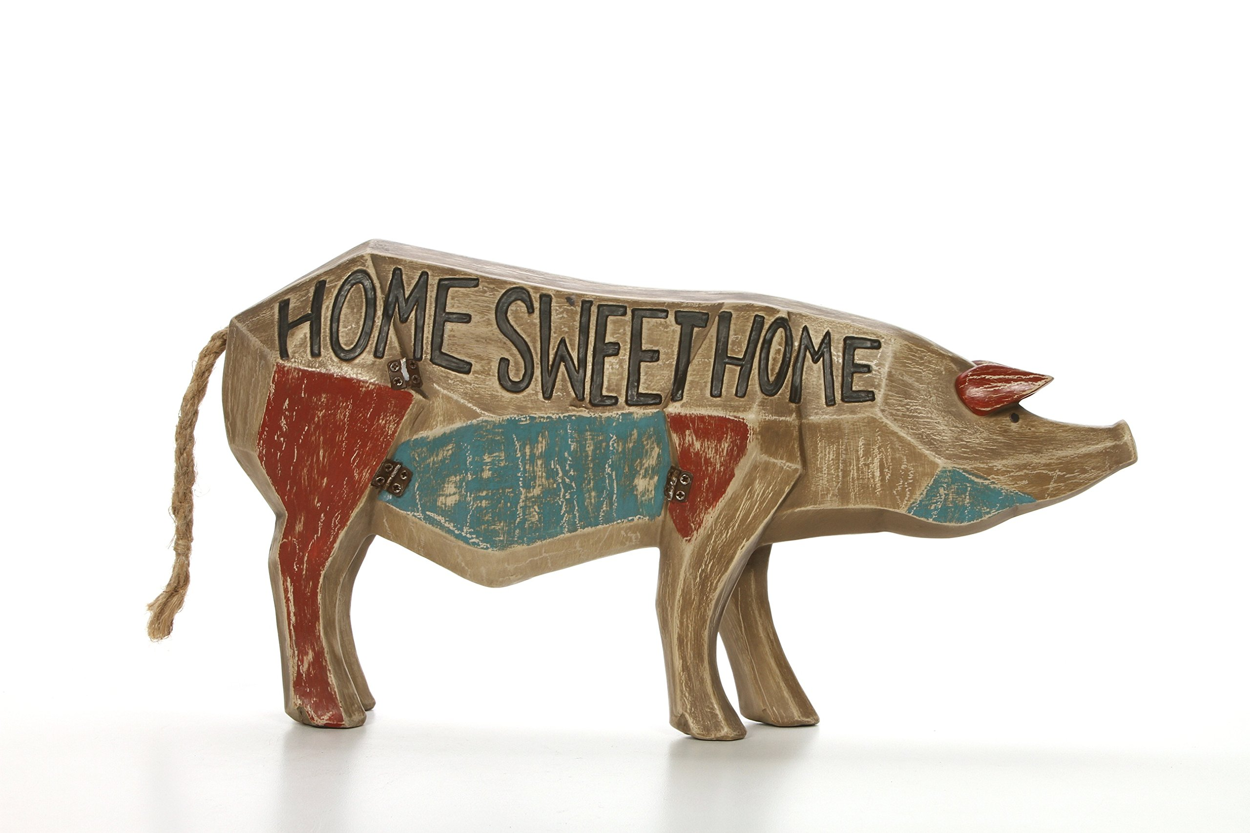 Hosley 14.4'' Long, Decorative Tabletop Sign - Home Sweet Home, Pig. Ideal Gift for Wedding, Home, Party Favor, Spa, Reiki, Meditation, Bathroom Settings O9