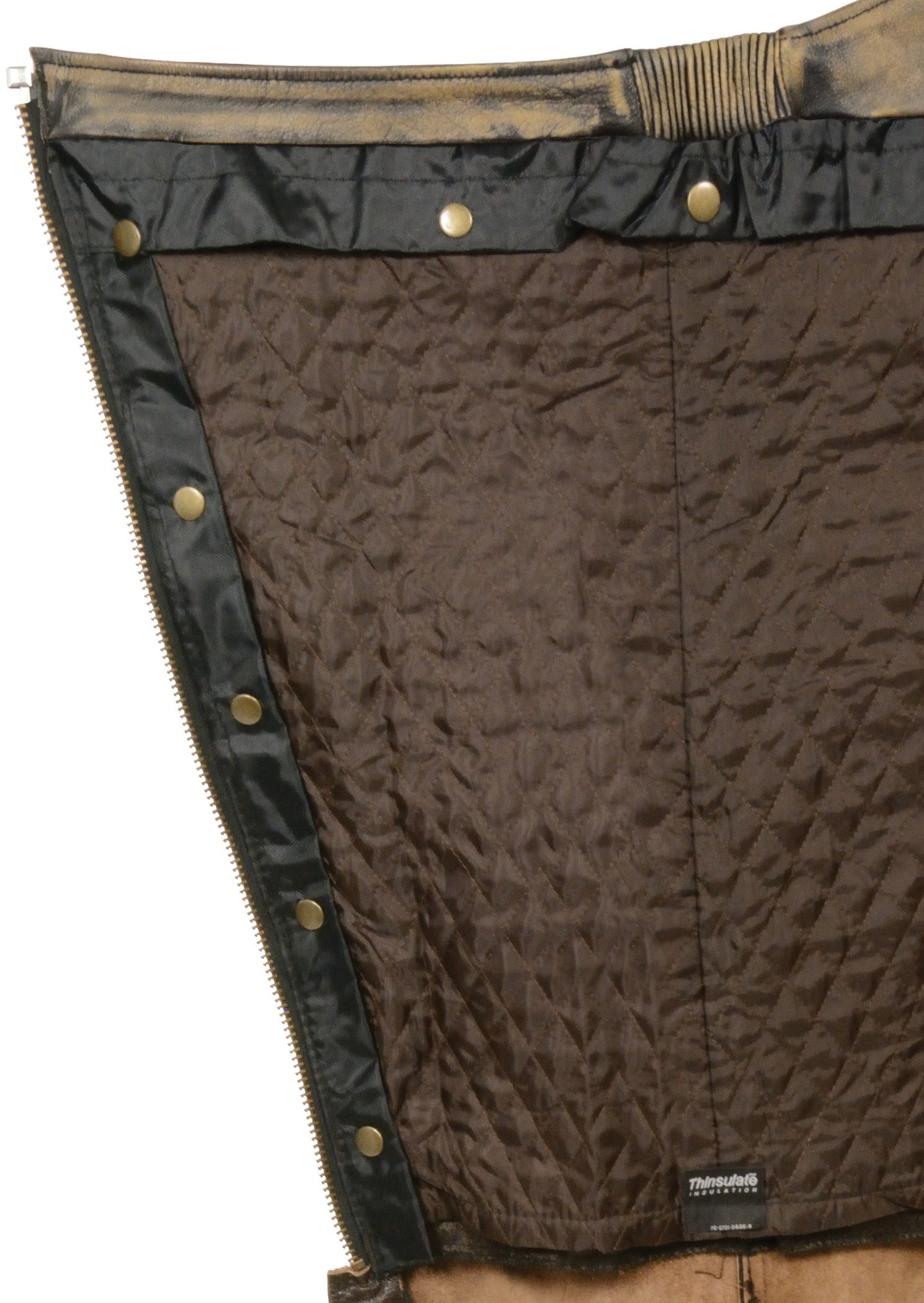 Milwaukee Men's Distressed 4 Pocket Thermal Liner Chaps (Brown, XX-Small) by Milwaukee (Image #2)