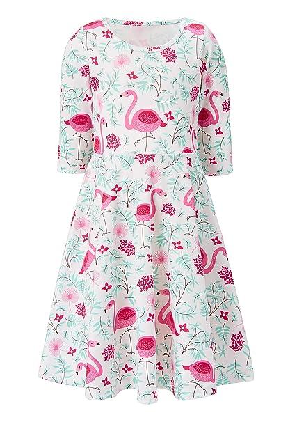 7155be48e Amazon.com  ALOOCA Girls Christmas Dress Baby Girl Christmas Clothes ...