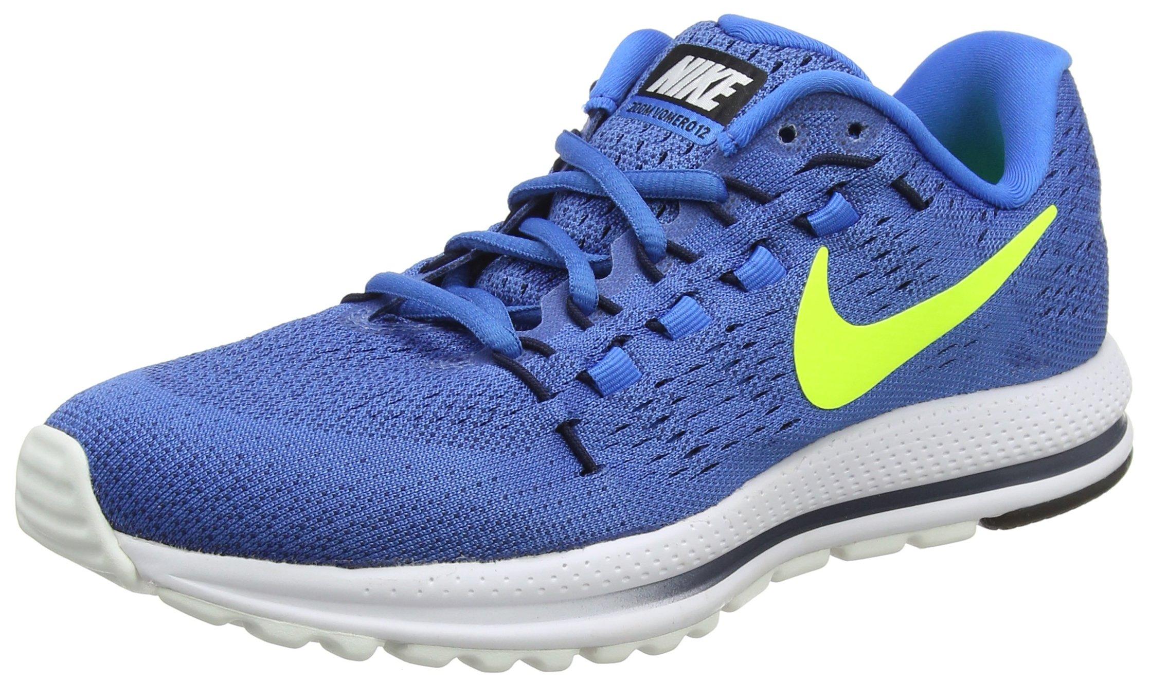3ecef82cae2c Galleon - NIKE Air Zoom Vomero 12 Sz 10.5 Mens Running Star Blue Volt-Italy  Blue-Obsidian Shoes