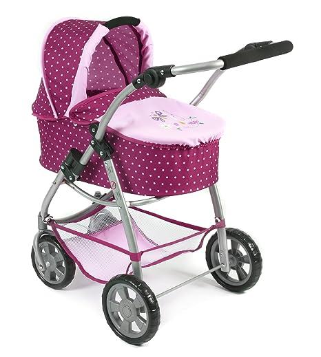 Amazon.es: Bayer Chic 2000 637 29 Carrito para muñecas, 3 en 1, Color Morado, Lila/Rosa: Juguetes y juegos