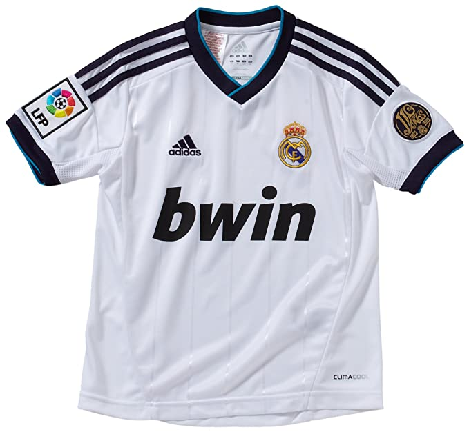 042b35893 adidas Boy s Replica Football Jersey Real Madrid Home weiß schwarz Size 176   Amazon.co.uk  Sports   Outdoors
