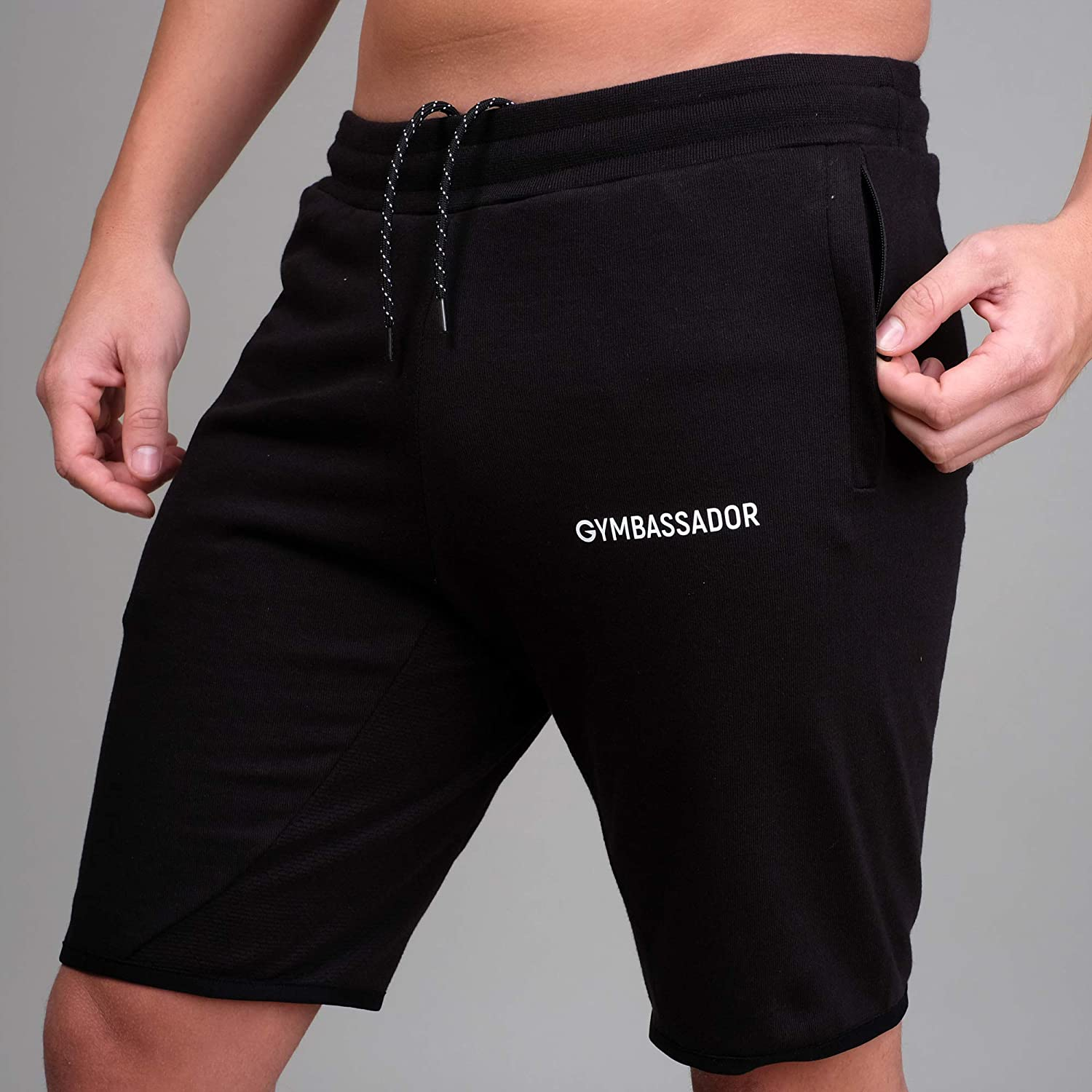 Gymbassador   Kurze Trainingshose, Short, Trainingsanzug Herren (Slim Fit)   Funktionell für Sport, Fitness, Training, Workout, Gym, Yoga, Freizeit   Nachhaltig