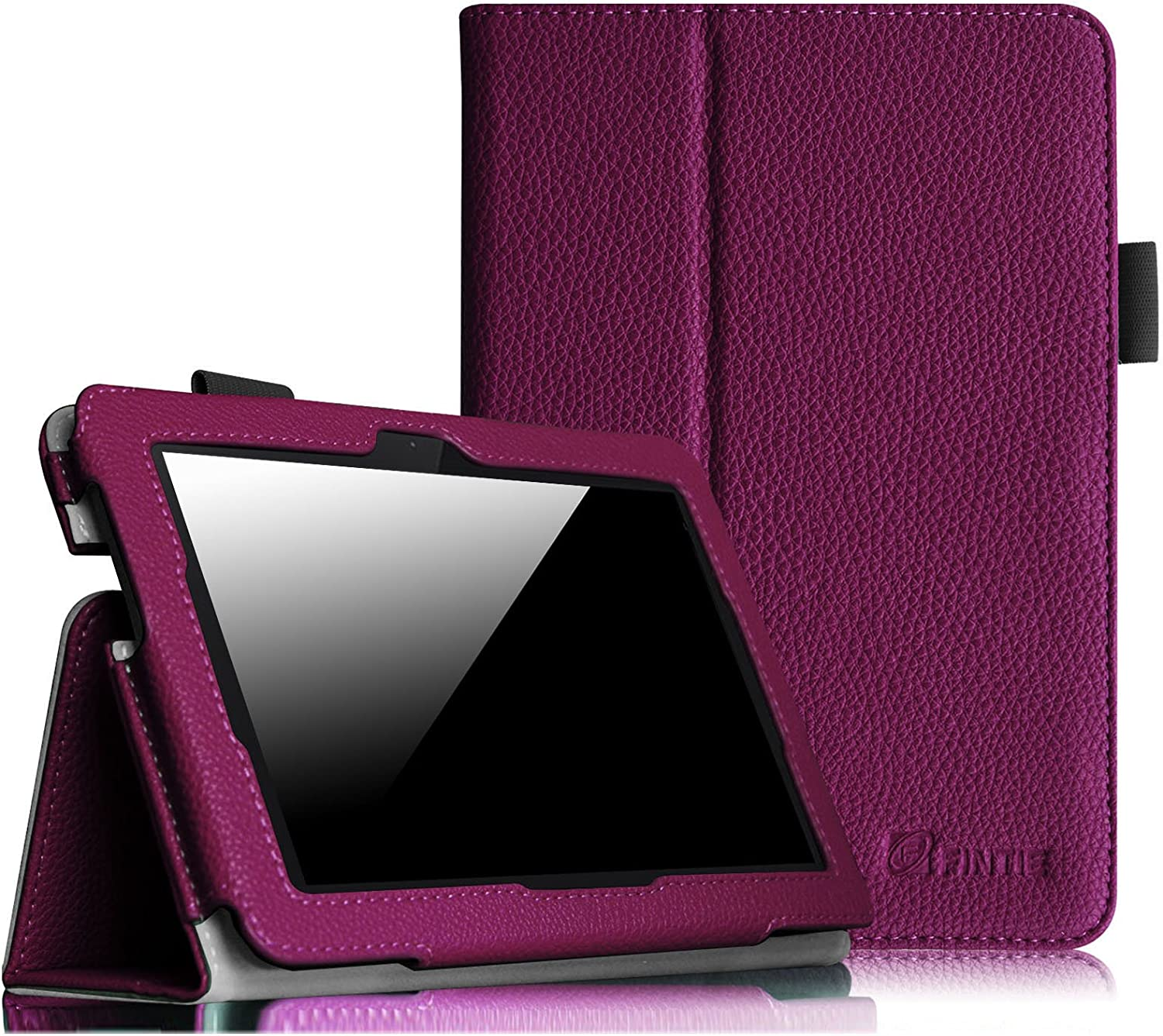 Amazon Com Fintie Folio Case For Fire Hdx 7 Slim Fit Leather Standing Protective Cover With Auto Sleep Wake Will Only Fit Kindle Fire Hdx 7 2013 Purple Kindle Store