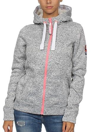 b6fcbe4194852b Superdry Damen Hoodie Storm Colour Pop Ziphood, Größe:XS, Farben:Slate Grey
