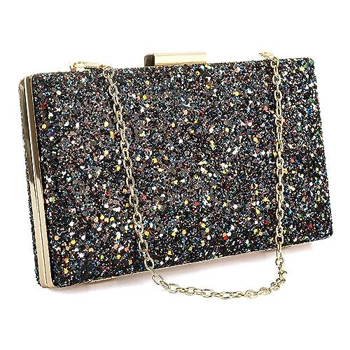 EROGE Laser Clutch Bag Womens Hologram Shining Handbag Fashion Transparent Tote Bags (A)