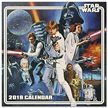 Calendrier Star Wars 2019.Calendar 2019 Classic Star Wars Movie Wall Calendar 30 X 30