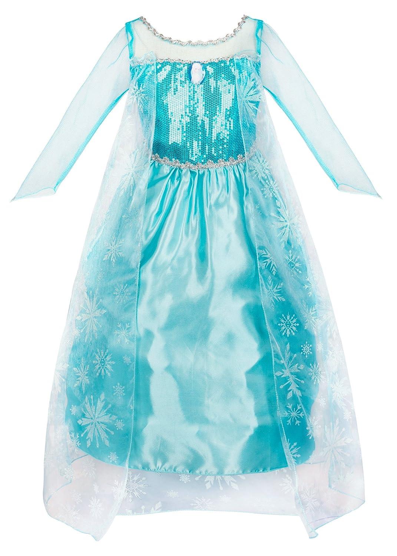 ウェンジLittle Girl 'sブルー雪の女王パーティードレスファンシーコスチューム 1-2 Years ブルー B07CJTY95M