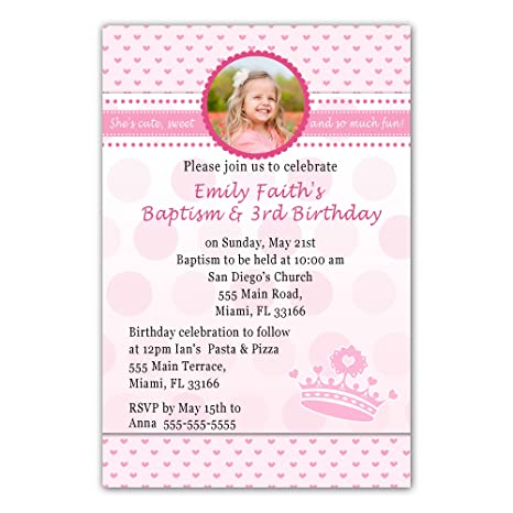 Amazon Com 30 Invitations Princess Pink Hearts Invite Girl