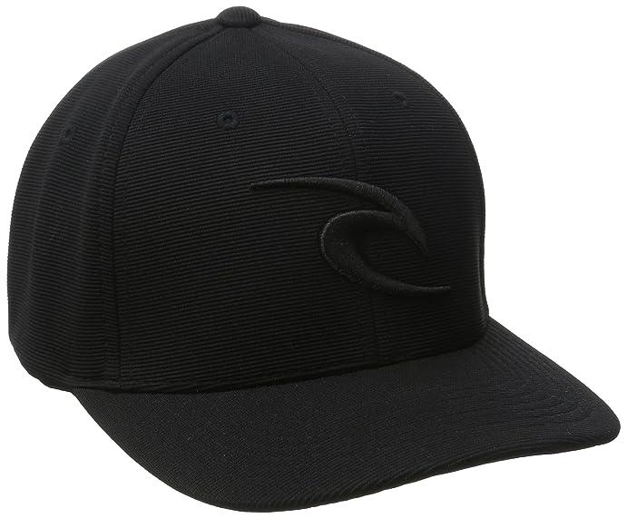 35ece940a Amazon.com: Rip Curl Men's RC Icon Flexfit Hat, Black/Black, One ...