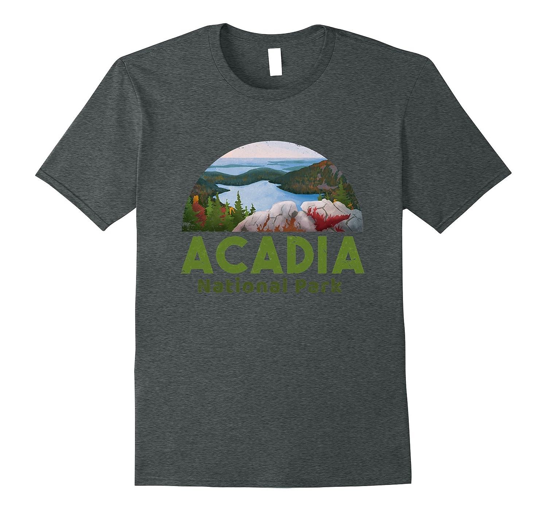 Acadia National Park T shirt Camp Hike Canoe guide-TH