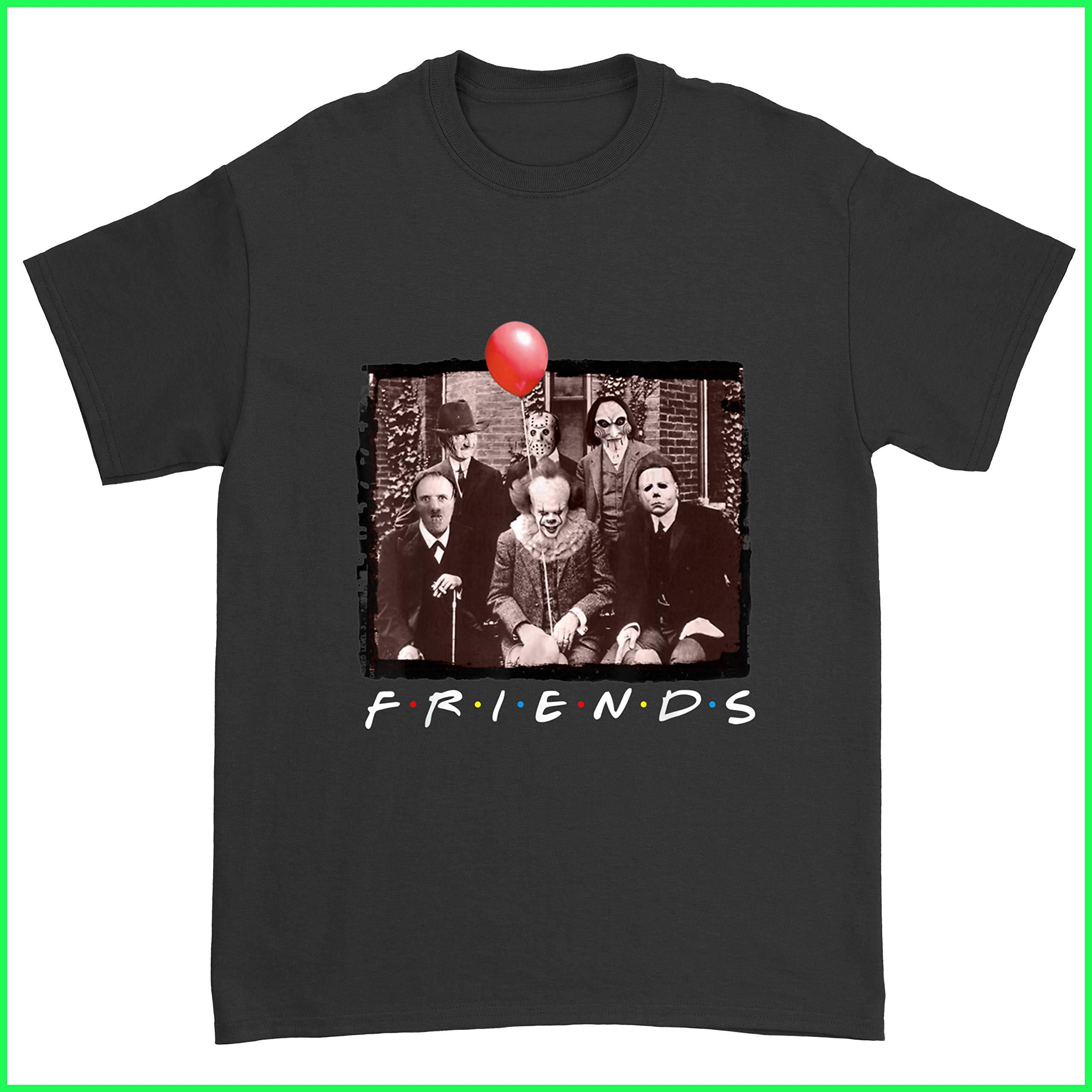 Maiphuonganh Funny Friends Halloween Friends Horror Creepy Shirt Horror Characters Friends