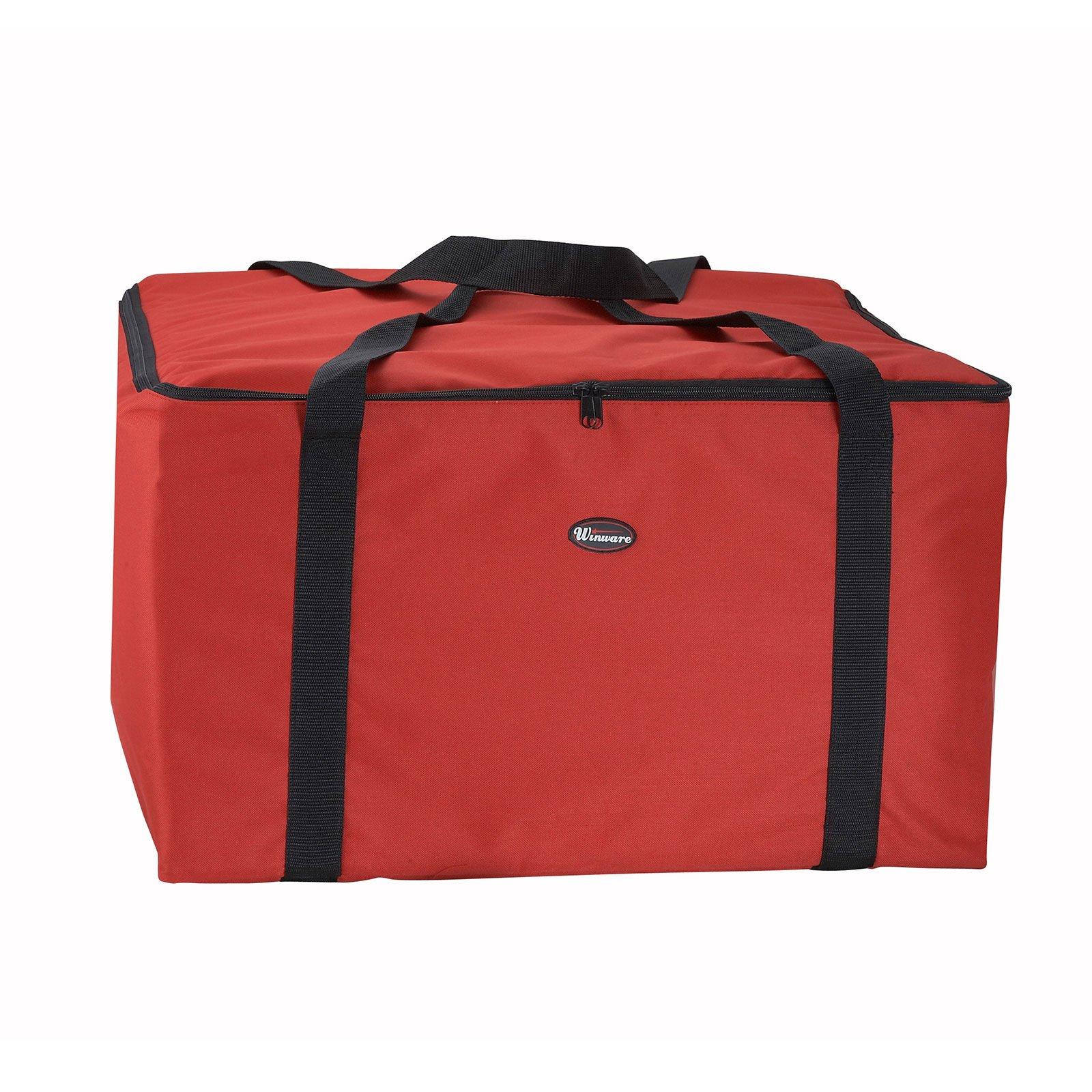 Winco BGDV-22 Pizza Delivery Bag 22'' x 22'' x 13'' - Case of 6