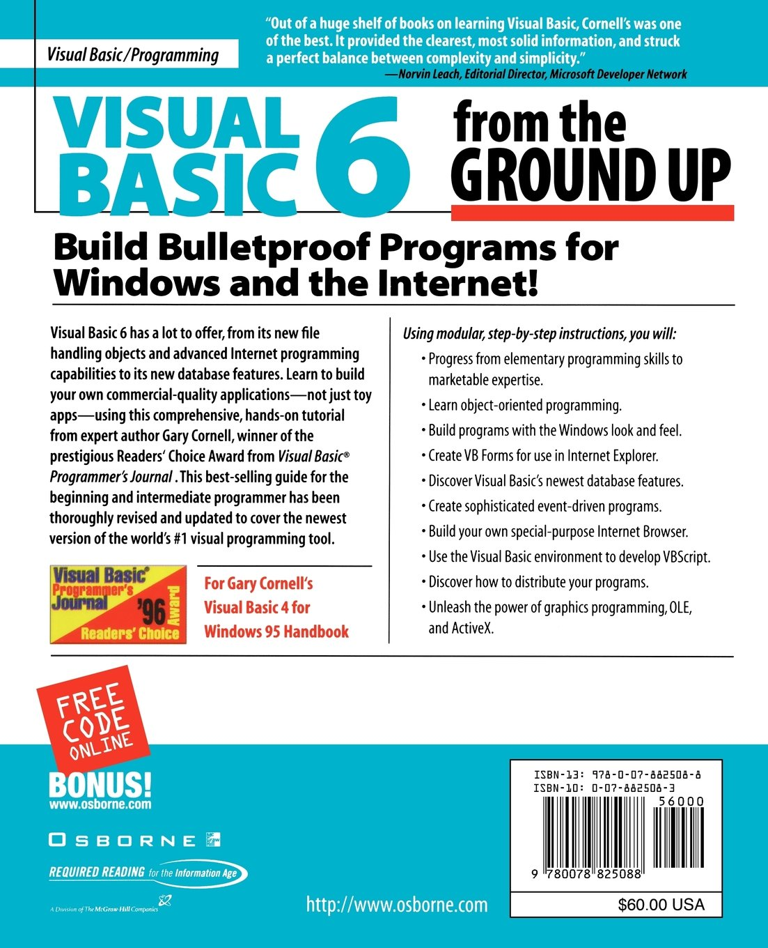 Buy Visual Basic 6 From The Ground Up Book Online At Low Prices In