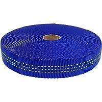 "GM CLIMBING Nylon Tubular Webbing Tape 4000lb Heavy Duty for General Outdoor Application 1"" x 30Ft / 10 Yards"