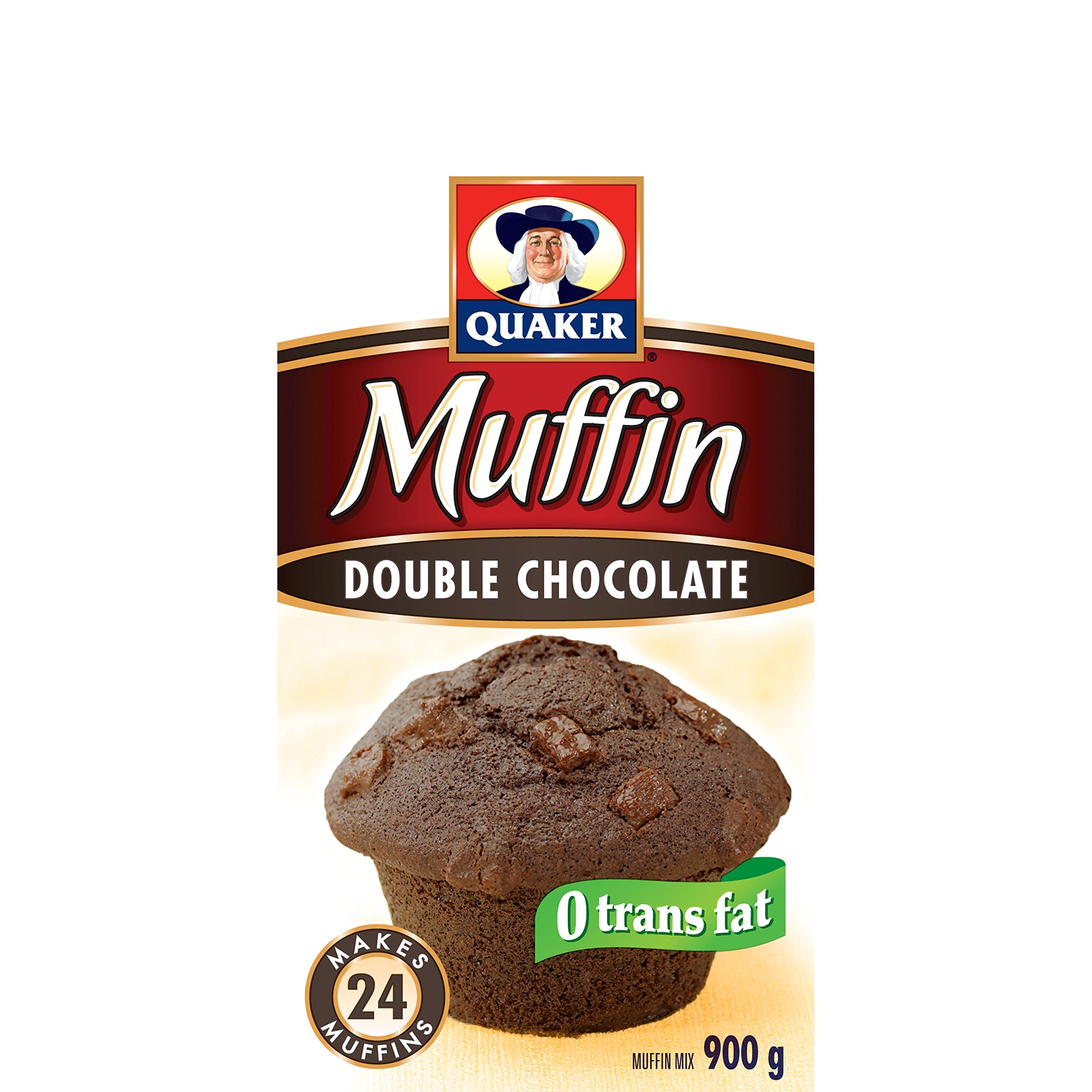 Quaker Muffin Mix Double Chocolate, 12ct, 900g, Imported from Canada