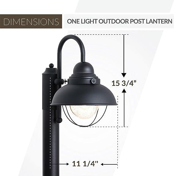 Forged Iro Details about  /Sea Gull Lighting 82660 Winnetka 1 Light Outdoor Lantern Post Light