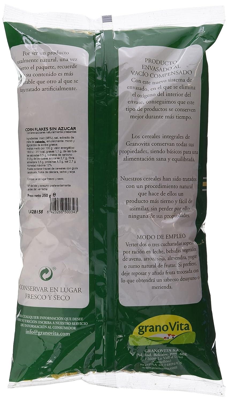 Granovita Corn Flakes sin Azucar Cereales - 350 gr - [Pack de 4]: Amazon.es: Alimentación y bebidas