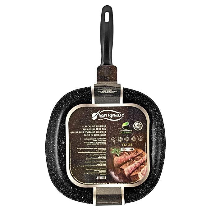 Amazon.com: SAN IGNACIO - GRILL PAN 28X28X4.5CM PRESS ALU GRAFIT PRO SG: Sports & Outdoors