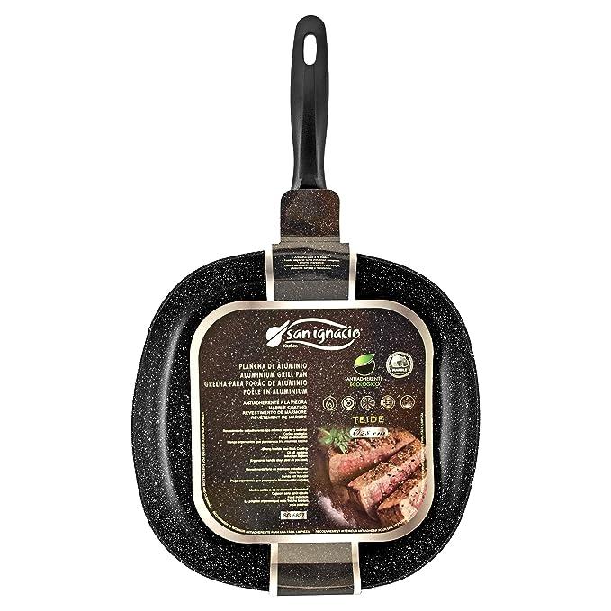 Amazon.com: SAN IGNACIO - GRILL PAN 28X28X4.5CM PRESS ALU GRAFIT PRO SG: Sports & Outdoors