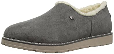 Skechers BOBS Women's BOBS Alpine Black Diamond Cozy Slipper, Gray, ...