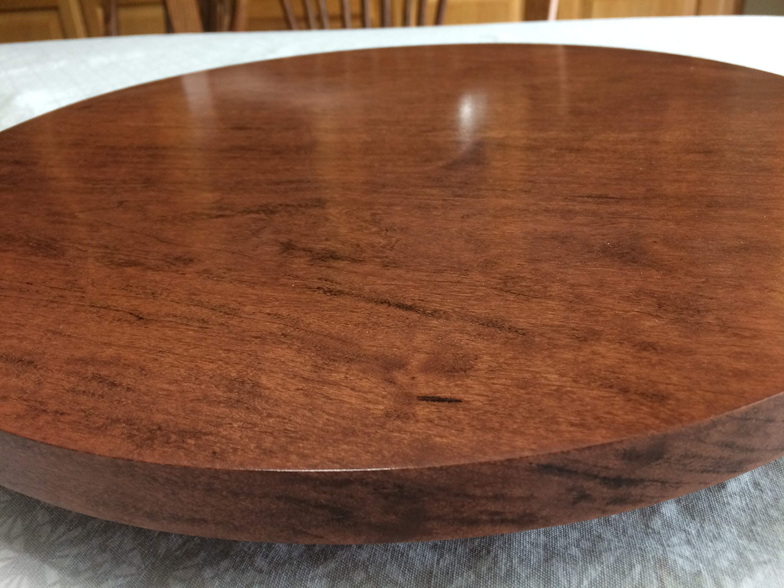 Cherry wood lazy susan, 15 3/4'' Diameter, handcrafted