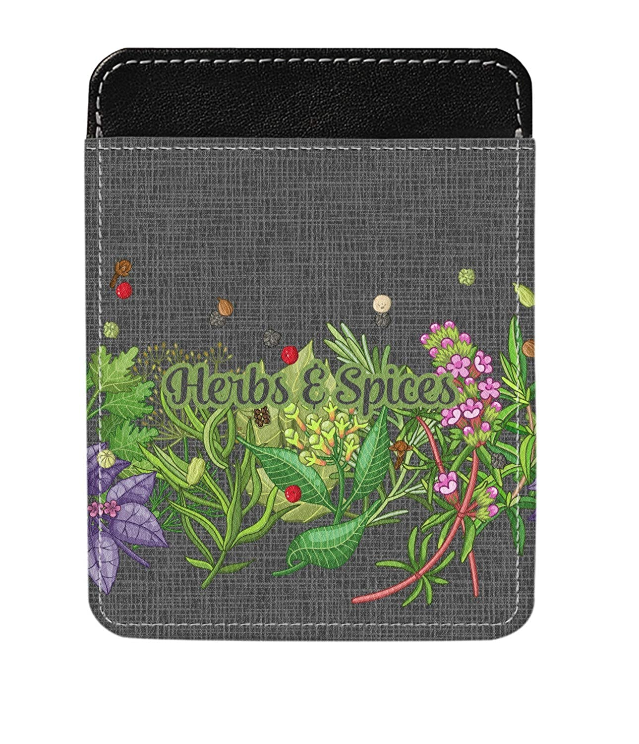 Personalized Herbs /& Spices Genuine Leather Money Clip