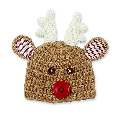 Mud Pie Baby Crochet Reindeer Hat