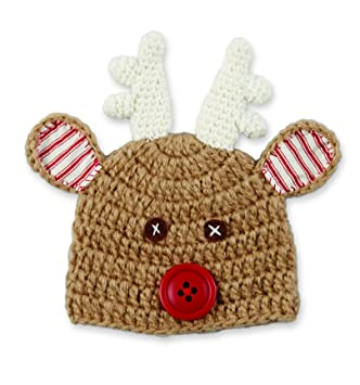Amazon.com  Mud Pie Baby Crochet Reindeer Hat  Baby b8e6c3acd4f