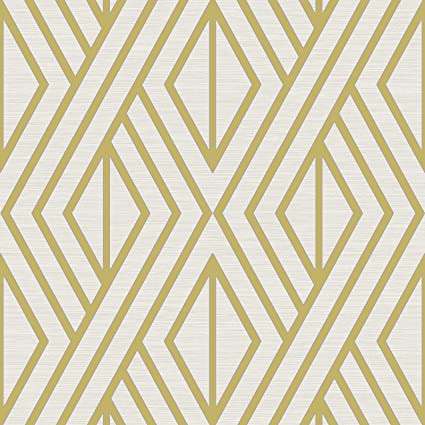 Geometric Wallpaper White And Gold Pear Tree Uk30515 Amazon Com